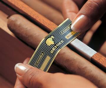 Cohiba Zigarre mit Etikett