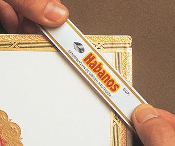Habanos-Packung mit Etikett
